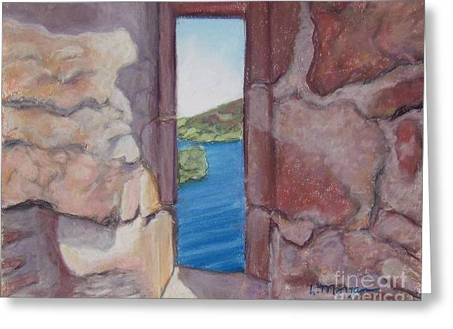 Ruins Pastels Greeting Cards - Urquhart Ruins Loch Ness Greeting Card by Laurie Morgan