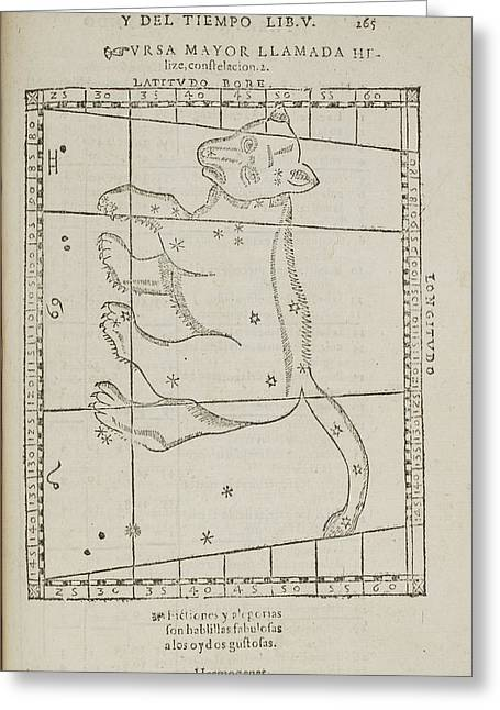 Ursa Major Star Constellation Greeting Card by British Library