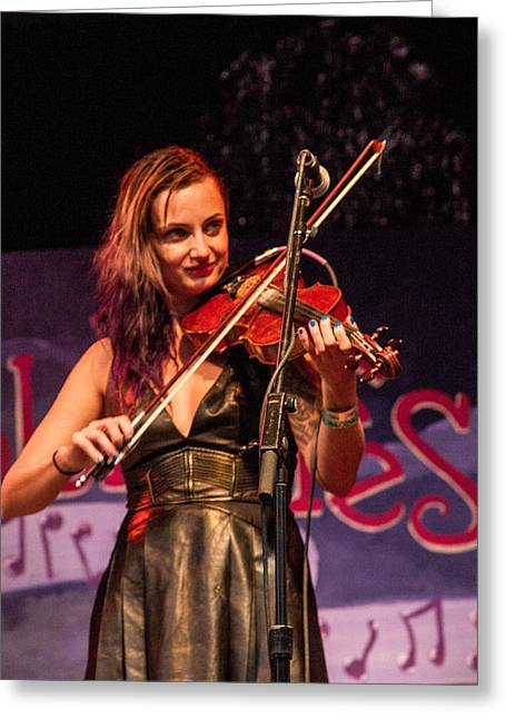 Blissfest Greeting Cards - Ursala Knudsen of Fishtank Ensemble II Greeting Card by Bill Gallagher