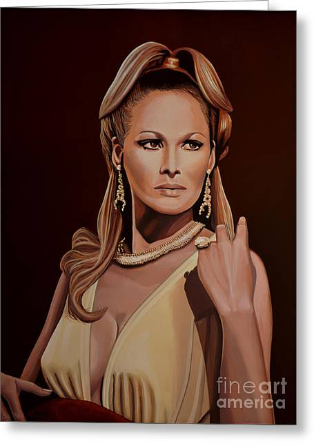 Swiss Greeting Cards - Ursula Andress Greeting Card by Paul Meijering