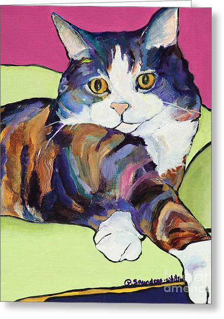 Canvas On Board Greeting Cards - Ursula Greeting Card by Pat Saunders-White