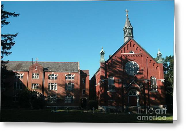 Valley Girl Greeting Cards - Ursuline Academy in Blue Sky Greeting Card by Kip DeVore