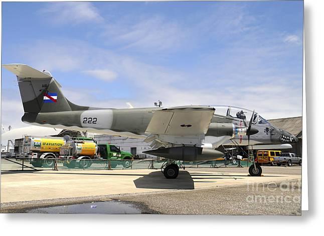 Insurgency Greeting Cards - Uruguayan Air Force Ia-58 Pucara Greeting Card by Riccardo Niccoli
