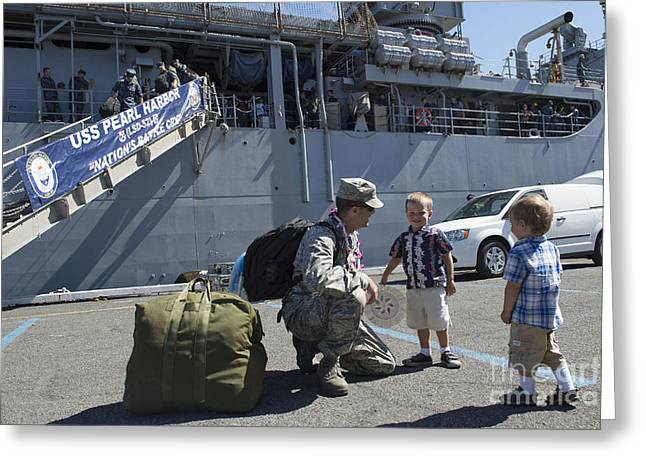 One Parent Greeting Cards - U.s. Air Force Captain Greets Greeting Card by Stocktrek Images