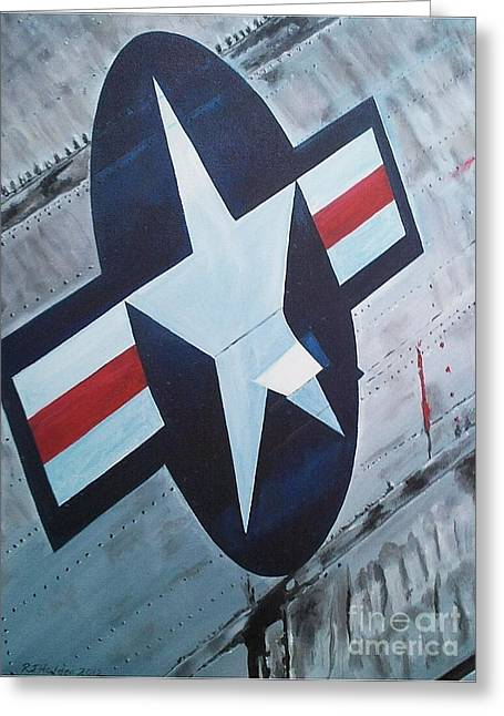 Jet Star Greeting Cards - US Air Force Greeting Card by Richard John Holden