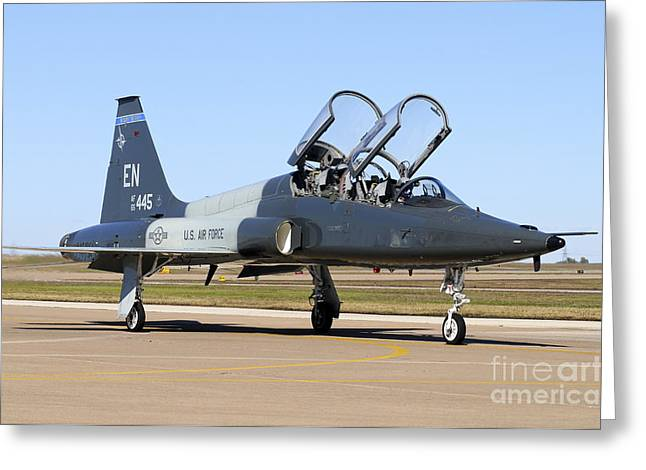 Us Open Photographs Greeting Cards - U.s. Air Force T-38 Talon Taxiing Greeting Card by Riccardo Niccoli