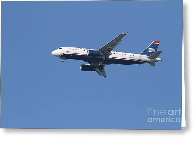 American Airways Greeting Cards - US Airways Jet 7D21945 Greeting Card by Wingsdomain Art and Photography