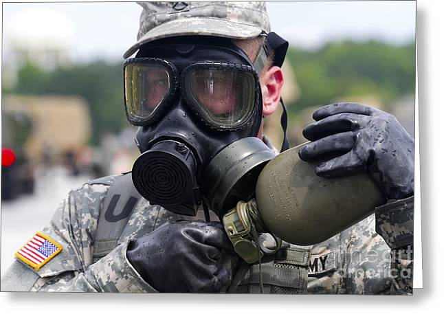 -wars And Warfare- Greeting Cards - U.s. Army Chemical Operations Greeting Card by Stocktrek Images