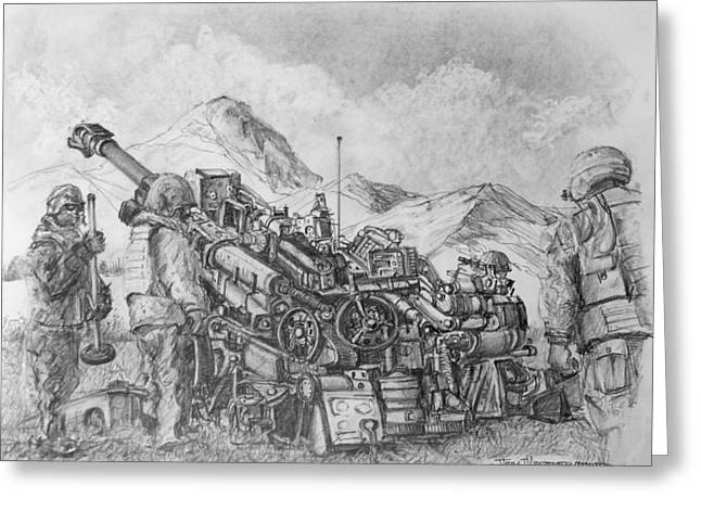 Jim Hubbard Greeting Cards - US Army M-777 Howitzer Greeting Card by Jim Hubbard