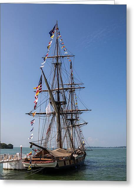 Wooden Ship Photographs Greeting Cards - U.S. Brig Niagara Greeting Card by Dale Kincaid