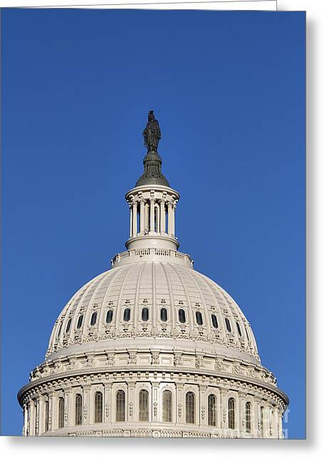 Federal Government Greeting Cards - US Capitol Building Dome Greeting Card by John Greim