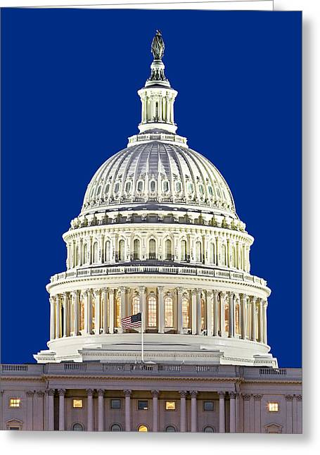 U.s. Capitol Dome Greeting Cards - US Capitol Dome Greeting Card by Susan Candelario