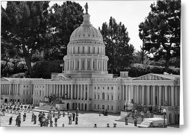 US Capitol Greeting Card by Ricky Barnard