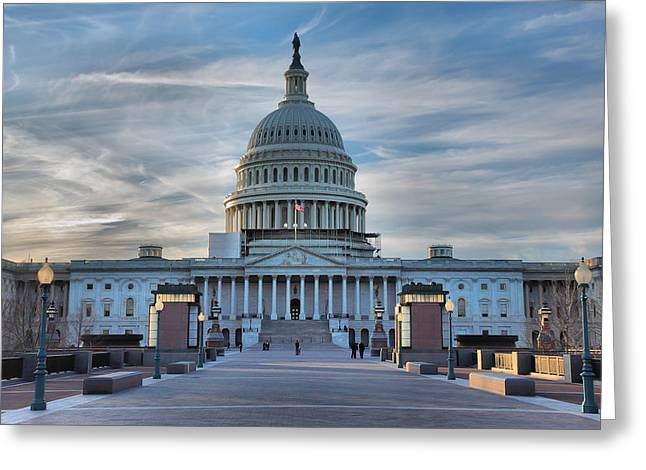Architecture Metal Prints Greeting Cards - U.S. Capitol Greeting Card by Steven Ainsworth