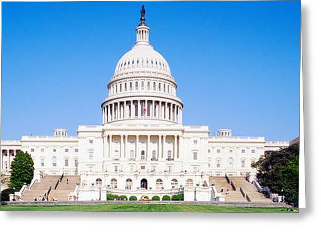 18th Century Greeting Cards - Us Capitol, Washington Dc, District Of Greeting Card by Panoramic Images