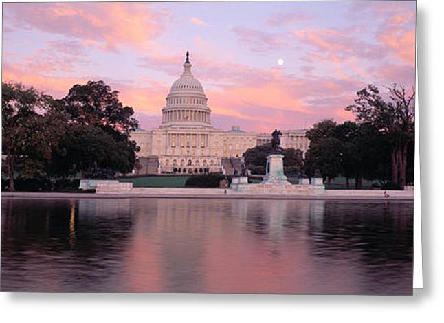 Capitol Building Greeting Cards - Us Capitol Washington Dc Greeting Card by Panoramic Images