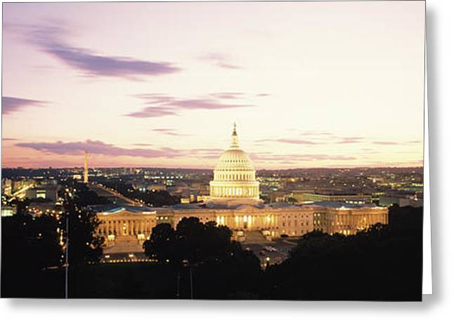 Us Capitol Greeting Cards - Us Capitol Washington Dc Usa Greeting Card by Panoramic Images