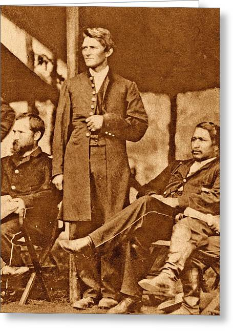 Us Civil War Union Officers Greeting Card by American Philosophical Society