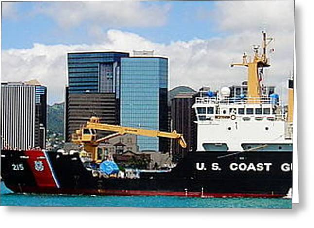 Jan Vermeer Photographs Greeting Cards - U.S. Coast Guard - No.96813 Greeting Card by Joe Finney