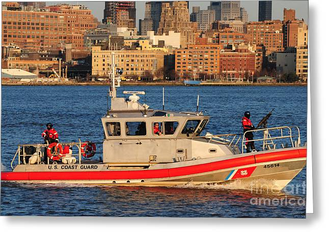 Response Greeting Cards - U.S. Coast Guard - Always Ready Greeting Card by Paul Ward