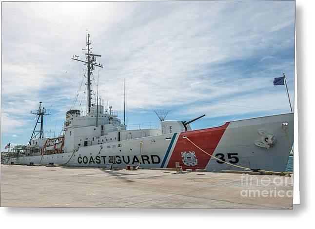 Us Coast Guard Greeting Cards - US Coast Guard Cutter Ingham WHEC-35 - Key West - Florida Greeting Card by Ian Monk