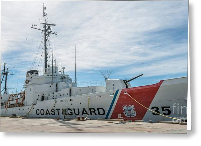 Us Coast Guard Cutter Ingham Whec-35 - Key West - Florida - Panoramic Greeting Card by Ian Monk