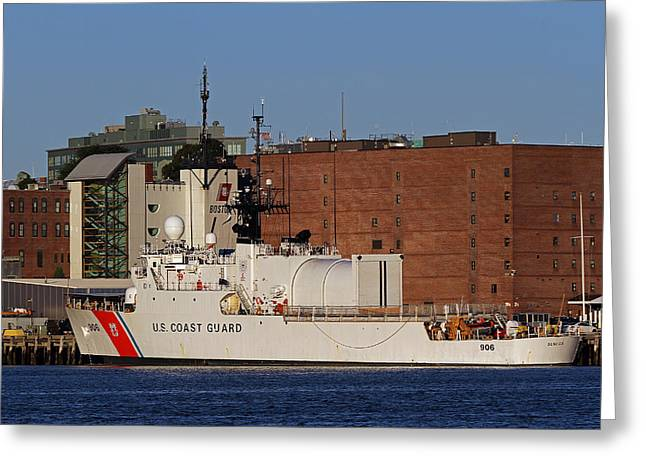 Boston Ma Greeting Cards - US Coast Guard Cutter Seneca Greeting Card by Juergen Roth