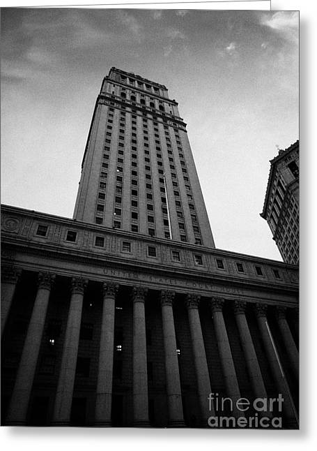 Manhaten Greeting Cards - Us  Courthouse Civic Center Centre Street Foley Square New York Greeting Card by Joe Fox