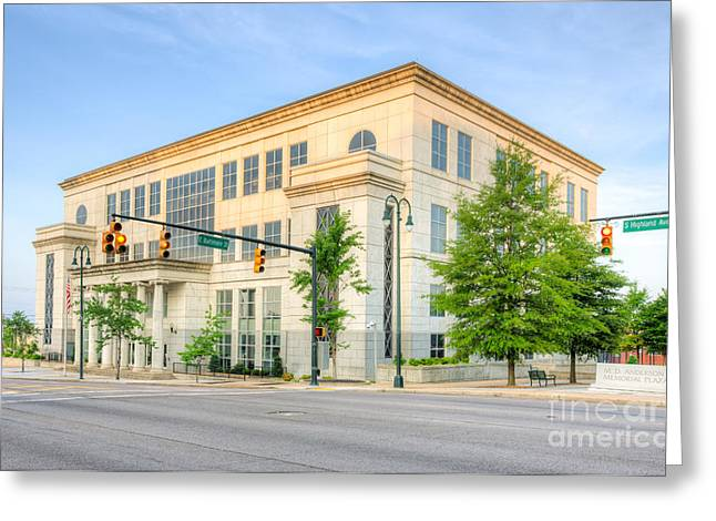 M Court Greeting Cards - US District Courthouse Western Tennessee I Greeting Card by Clarence Holmes