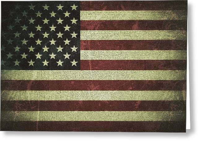 Diane Reed Greeting Cards - US Flag Greeting Card by Diane Reed