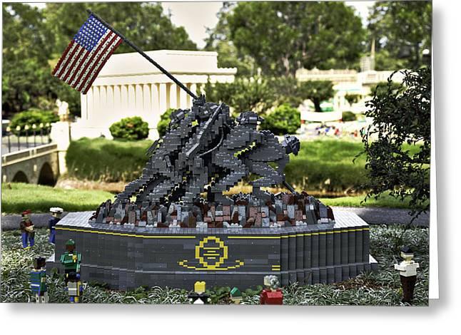 US Marine Corps War Memorial Greeting Card by Ricky Barnard