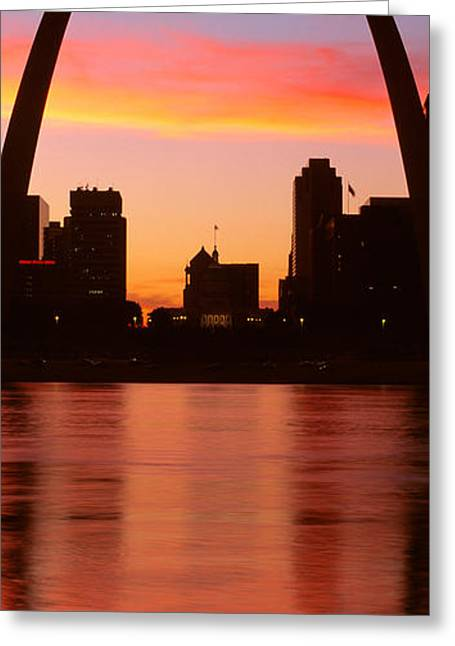 Missouri Photography Greeting Cards - Us, Missouri, St. Louis, Sunrise Greeting Card by Panoramic Images