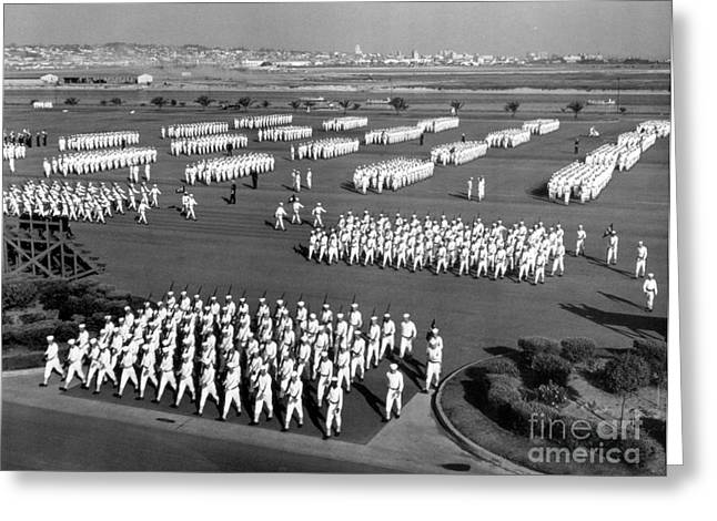 Photo-based Greeting Cards - U.s. Naval Training Center, San Diego Greeting Card by Photo Researchers
