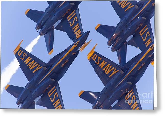 Military Airplanes Greeting Cards - US Navy Blue Angels 5D29597 Greeting Card by Wingsdomain Art and Photography