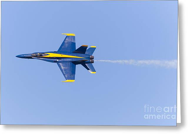 Military Airplanes Greeting Cards - US Navy Blue Angels At San Francisco Fleet Week 5D29592 Greeting Card by Wingsdomain Art and Photography