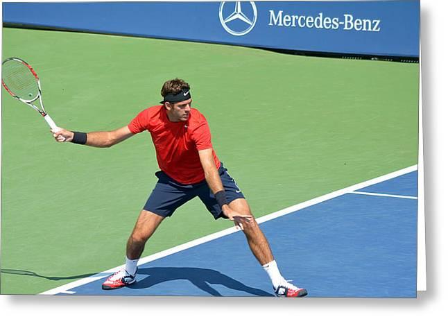 US Open Juan Martin del Potro Greeting Card by Maria isabel Villamonte