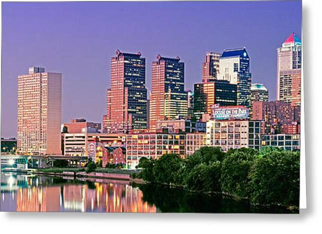 Pa.pennsylvania Greeting Cards - Us, Pennsylvania, Philadelphia Skyline Greeting Card by Panoramic Images