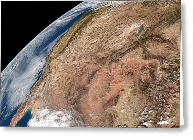 Southern Utah Greeting Cards - US South West, satellite artwork Greeting Card by Science Photo Library
