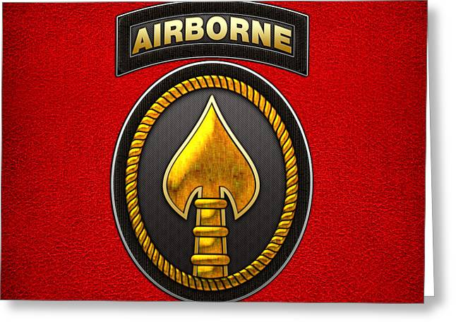 Ssi Greeting Cards - U.S. Special Operations Command - USSOCOM Patch Greeting Card by Serge Averbukh