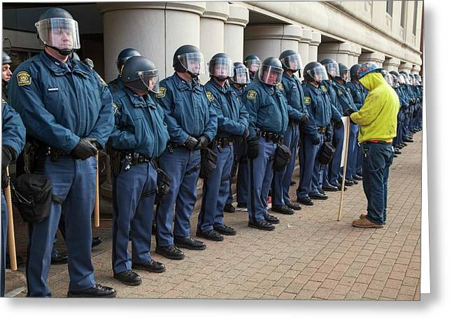 Us State Police Greeting Card by Jim West