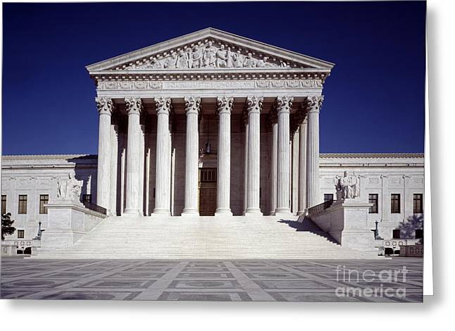 1980s Greeting Cards - U.S. SUPREME COURT, c1990 Greeting Card by Granger