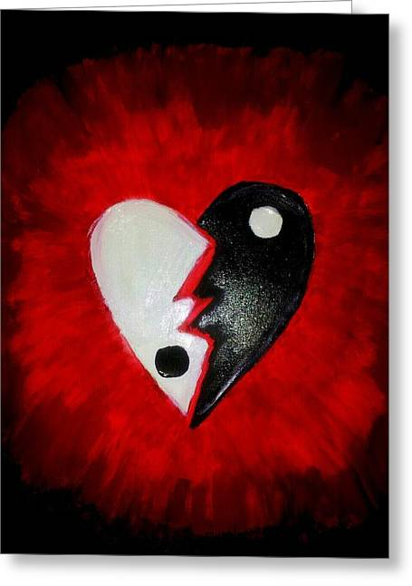 Broken Heart Drawings Greeting Cards - Us Greeting Card by Tiffany  Rios