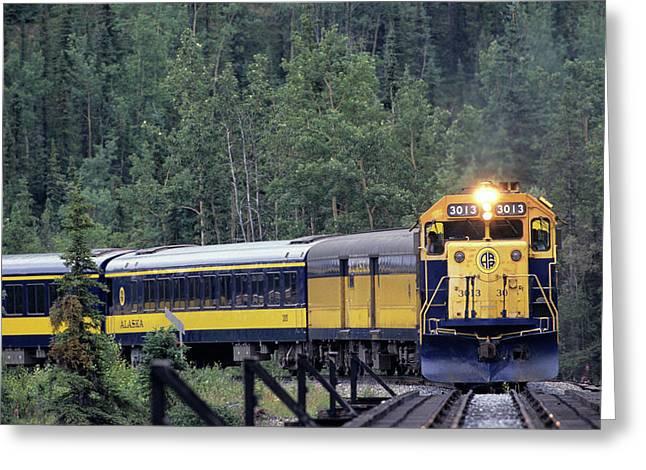 Usa, Alaska, Alaska Railroad, Denali Greeting Card by Gerry Reynolds