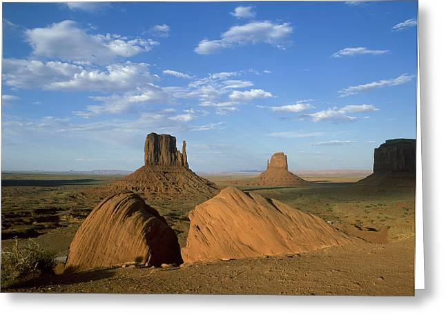 Scenary Greeting Cards - Usa, Arizona, Monument Valley, Rock Greeting Card by Tips Images
