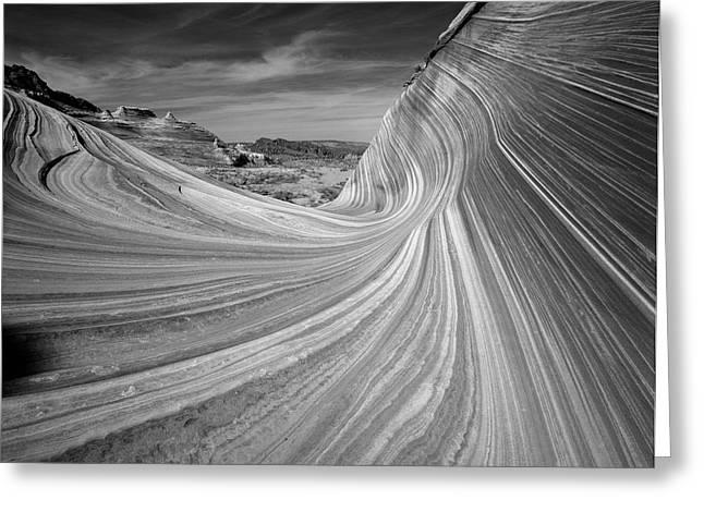 Usa, Arizona, Paria Canyon, The Wave Greeting Card by Adam Jones