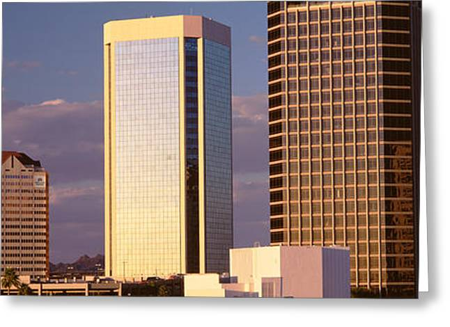 Phoenix Architecture Greeting Cards - Usa, Arizona, Phoenix, Cloudscape Greeting Card by Panoramic Images