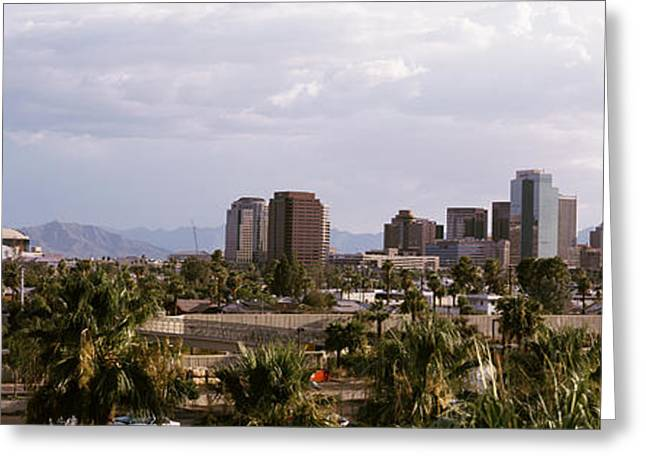 Phoenix Architecture Greeting Cards - Usa, Arizona, Phoenix, High Angle View Greeting Card by Panoramic Images