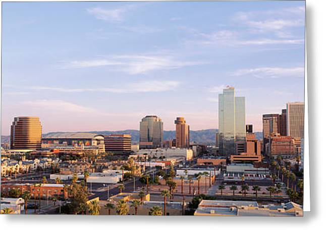 Financial Greeting Cards - Usa, Arizona, Phoenix Greeting Card by Panoramic Images
