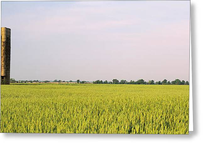 Arkansas Greeting Cards - Usa, Arkansas, View Of Grain Silos Greeting Card by Panoramic Images
