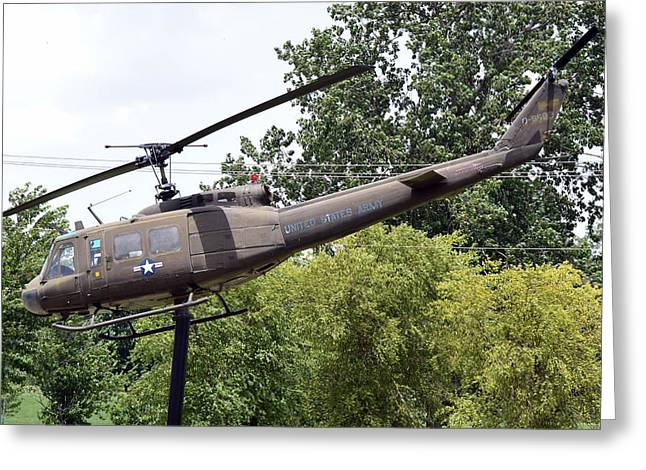 Usa Army Helicopter Greeting Card by Kim Stafford